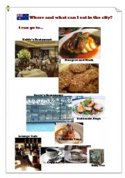 English Worksheet: Where and what can I eat in Sydney?(3)