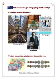 English Worksheet: Where can I go shopping in Sydney?(4)