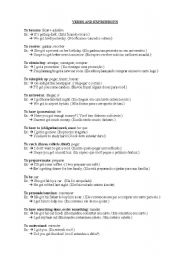 English Worksheets: Usefull verbs and expressions