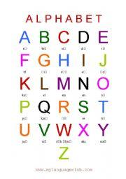 Resultado de imagen de the alphabet pronunciation worksheets