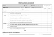 English Worksheet: Oral Presentation Assessment
