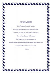 English worksheet: A special poem