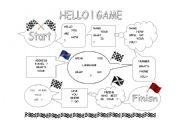 English Worksheets: Hello!  Greetings Game