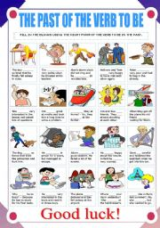 English Worksheets: THE PAST OF THE VERB TO BE