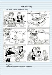 English Worksheet: Picture Story