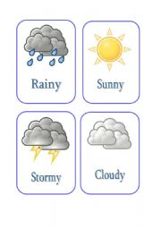 Weather flashcards  LearnEnglish Kids  British Council