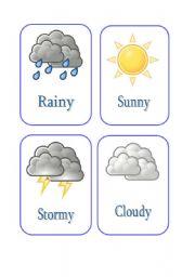 English Worksheet: Weather flashcards