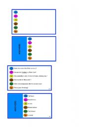English Worksheets: Trivia cards