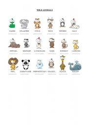 English Worksheet: Wild Animals Part1