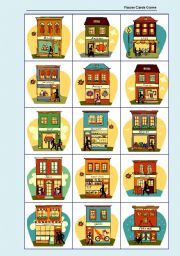 English Worksheets: Places Cards Game