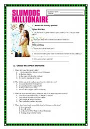 English Worksheet: Slumdog Millionaire - Movie