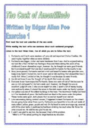 English Worksheets: Reading, listening and writing comprehension 14 pages of exercises