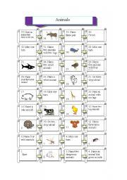 English Worksheet: Animal game