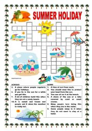 English Worksheet: Summer holiday