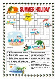 English Worksheet: Summer holiday
