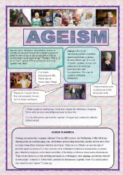 English Worksheets: Ageism - speaking, reading listening