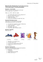 English Worksheets: Finding Nemo