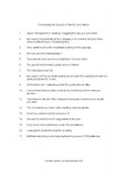 English Worksheets: Contrasting the Sound of Hard G and Hard K