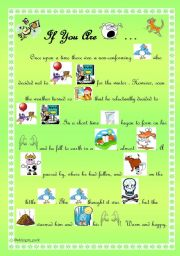 English Worksheets: If You Are Unhappy...