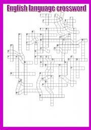 English Worksheets: English language crossword.