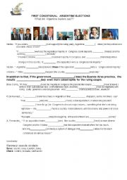 English Worksheet: Argentina elections