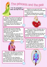 The princess and the pea ( reading comprehension+writing)