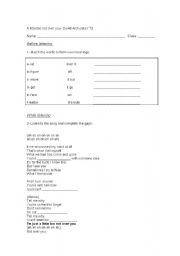 English Worksheets: David Archuleta- A little too not over you