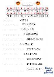 English Worksheet Summer Cryptogram