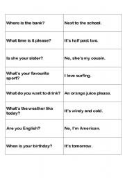 English Worksheets: QUESTION MATCH