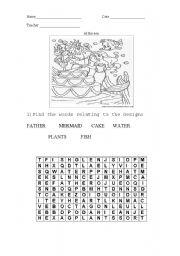 English Worksheets: At the sea.