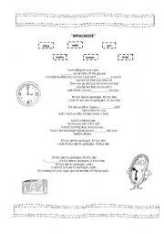 English worksheet: APOLOGIZE