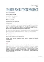 English Worksheet: Environment - CLIL project