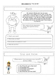 English Worksheet: shrek