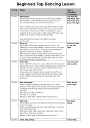 English Worksheets: Beginners� Tap Dancing Lesson