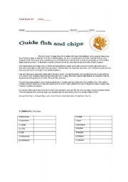 English Worksheets: guide fish and chips
