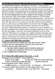 English Worksheets: cpomprehention passages