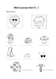 clothes and weather esl worksheet by sophia13. Black Bedroom Furniture Sets. Home Design Ideas