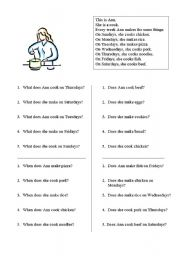 English Worksheets: This Is Ann