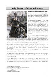 English Worksheet: Molly Malone - Song and Information
