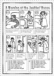 English Worksheets: A Morning at the Jenkins� House