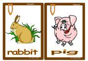 English Worksheets: Flashcards Animals