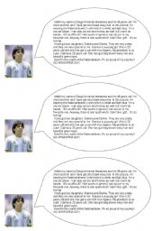 English Worksheets: Maradona´s self description