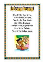 English Worksheet: Indians