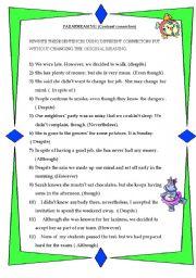 English Worksheets: Paraphrasing exercise