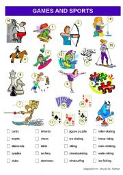 English Worksheet: Games and Sports Vocabulary worksheet