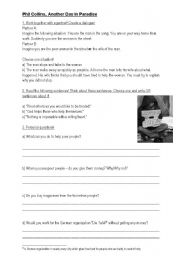 English Worksheet: Another day in Paradise Phil Collins