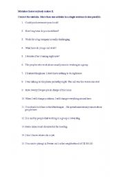 English Worksheets: Mistakes that everybody makes II