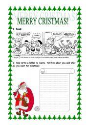 English Worksheets: Merry Cristmas