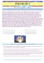 English Worksheets: INKHEART - follow-up summary and writing