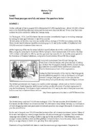English Worksheets: WW1